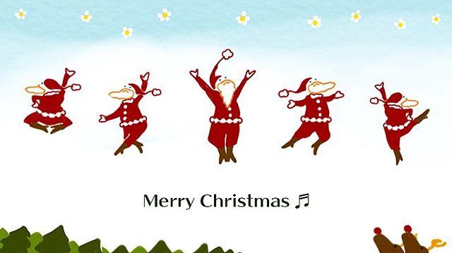 「let's dance サ・ン・タっ♬」サンタの集団danceが見てみたいそうだ️来週までにプレゼント用意しなきゃ……。#サンタクロース #サンタ #クリスマス #christmas #santaclaus #santa #dance #ダンス #イラスト #イラストレーター #イラストレーション #illustrator #illustration #絵日記 #イラスト日記 #ヘレン