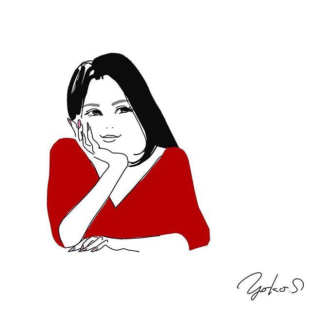 美容系の仕事をしておられる女性。イラストをオーダー頂きました。実は洋服の色違いで全3色。場面場面で楽しんでくださいまっせ♬・#イラストレーション #イラストレーター #イラスト #似顔絵 #オリジナル #ヘレン